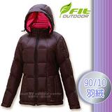 【維特 FIT】女新款 輕量防潑水保暖羽絨外套(90/10 水鳥羽絨)_FW2303 黑咖啡