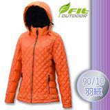 【維特 FIT】女新款 輕量防潑水保暖羽絨外套(90/10 水鳥羽絨)_FW2304 鮭魚橙