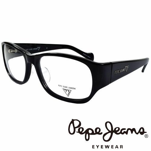 Pepe Jeans 英倫 低調龐克星型暗花光學鏡框 ^(黑^) PJ734103~001