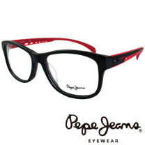 Pepe Jeans 英倫時尚現代簡約風格造型光學鏡框(紅)PJ3131-1-C1