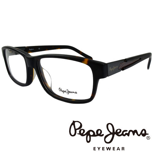 Pepe Jeans 英倫 低調編織紋路 光學鏡框^(琥珀 紅^) PJ3129~1~C3
