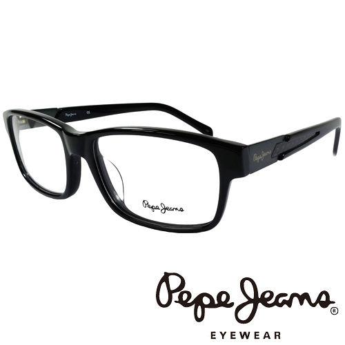 Pepe Jeans 英倫 低調編織紋路 光學鏡框^(黑^) PJ3129~1~C1
