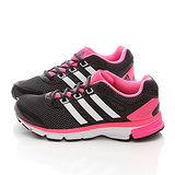 Adidas 女款 輕量慢跑運動鞋M18718-黑桃紅