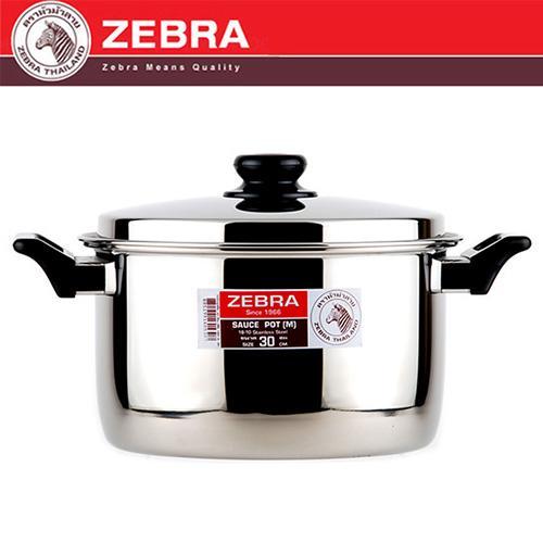 斑馬 ZEBRA 6M30雙耳湯鍋 9.8L30CM