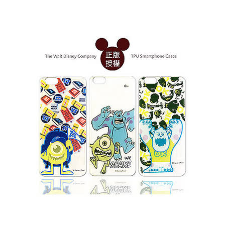 迪士尼授權正版 Disney iPhone 6 4.7吋 透明彩繪軟式保護殼 手機殼(怪獸大學款)