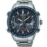 SEIKO ASTRON GPS 衛星校時太陽能【鈦】計時腕錶(藍面45mm) 8X82-0AB0B