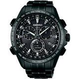 SEIKO ASTRON GPS 衛星校時太陽能【鈦】計時腕錶(IP黑/45mm) 8X82-0AB0SD