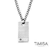 【TiMISA】宣言(S) 軍牌純鈦項鍊(M02D)
