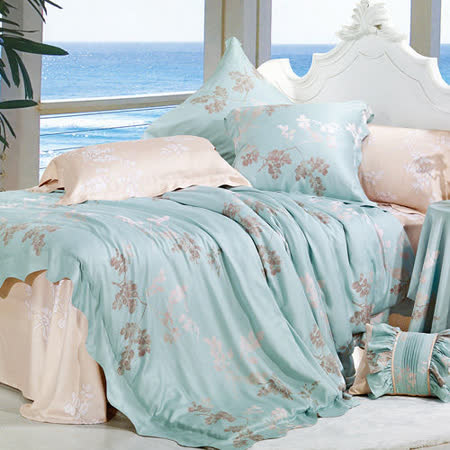Lily Royal 萊茵 天絲 雙人四件式兩用被床包組