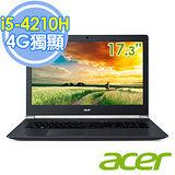 Acer VN7-791G-50TT 17.3吋 i5-4210H 雙核 4G獨顯FHD進化輕薄電競筆電–升級8G記憶體+電腦清潔刷