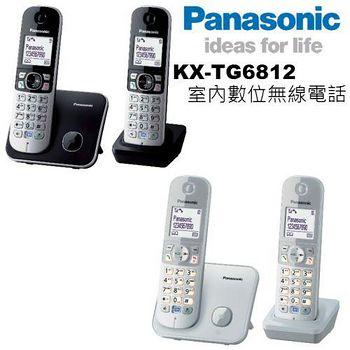 松下原廠公司貨 中文機 Panasonic KX-TG6812 DECT數位中文無線電話 (加贈羽毛電容筆)