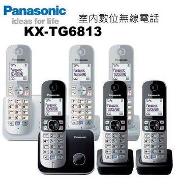 松下原廠公司貨 中文機 Panasonic KX-TG6813 DECT數位中文無線電話 (加贈羽毛電容筆+計步器)