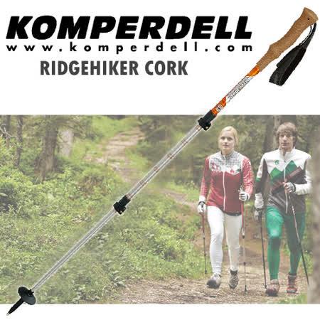 【KOMPERDELL奧地利】RIDGEHIKER CORK 強力鎖定軟木握把登山杖 (僅260g/單支銷售)_ 1742427-10