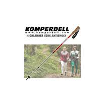 【KOMPERDELL奧地利】HIGHLANDER CORK ANTISHOCK 鋁合金軟木短握把避震登山杖(僅275g/單支銷售)__ 1742422-10