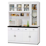 日式量販 歐風家居5尺白色收納隔間櫃