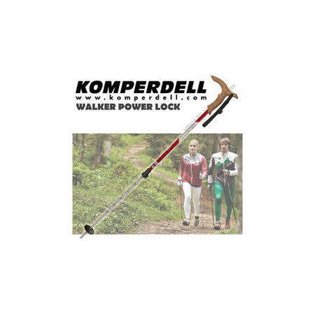 【KOMPERDELL奧地利】WALKER POWER LOCK 7075航太鋁合金T型把強力鎖定登山杖(僅240g))_1862420-10