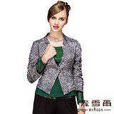 【麥雪爾】豹紋短版修身七分袖西裝外套