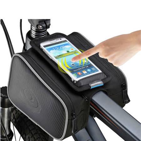 PUSH!自行車用品 自行車前置物袋 手機袋 上管袋 車前包 工具袋可裝5.7吋屏手機