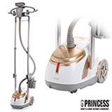 《PRINCESS》荷蘭公主白金雙桿直立式蒸氣熨斗 (333836)/贈粉紅咖啡機