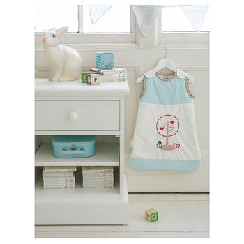 Dreamgenii 防踢被嬰兒睡袋 粉藍色水果 L 大號