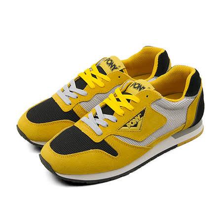 【PONY】女--美式復古慢跑鞋 PONY 72 系列 黃灰黑 43W1PO61YW