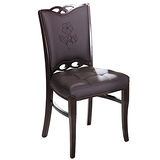 日式量販 花樣胡桃實木餐椅