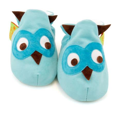 英國 Funky Feet 手工學步鞋 室內鞋 藍色貓頭鷹 6-24M