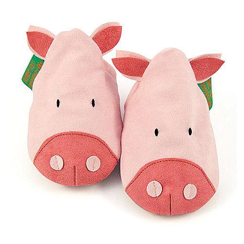 英國 Funky Feet 手工學步鞋 室內鞋 小豬 6-24M