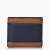 COACH Men's Accessories 高級皮革對摺式短夾_藍色