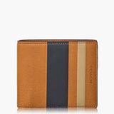 COACH Men's Accessories 高級皮革對摺式短夾_褐色