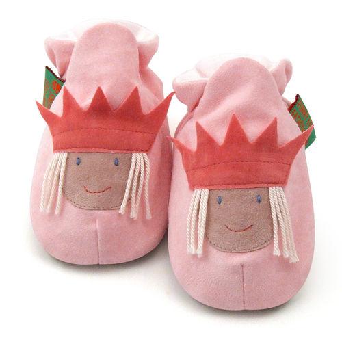 英國 Funky Feet 手工學步鞋 室內鞋 粉紅小公主 6-24M