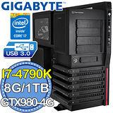 技嘉Z97平台【末日修羅】Intel第四代i7四核 技嘉 N980G1 GAMING 4GDDR5獨顯 1TB燒錄電腦