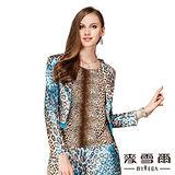 【麥雪爾】豹紋造形修身西裝外套