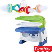 費雪牌 Fisher-Price寶寶小餐椅+Nuby 鮮果園系列蔬果棒(圈圈款)