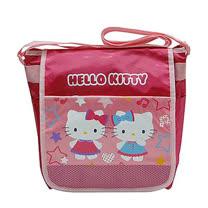 Hello Kitty粉紅色雙造形直式側背包