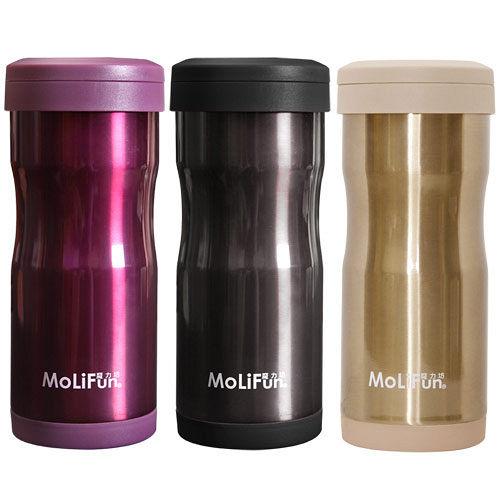 (任選2入)MoliFun魔力坊 不鏽鋼雙層高真空附專利濾網保溫杯瓶350ml