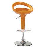 日式量販 弧線時尚橘色吧台椅