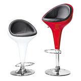 日式量販 弧線舒適皮墊吧台椅(二色可選)