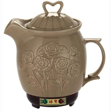 婦寶3.8L養生陶瓷煎藥壺(玫瑰)