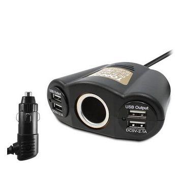 TOPPOP 1孔插座+4Port USB 車 .