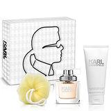 Karl Lagerfeld卡爾‧拉格斐 卡爾同名時尚女性淡香精禮盒(淡香精45ml+身體乳100m+沐浴球)