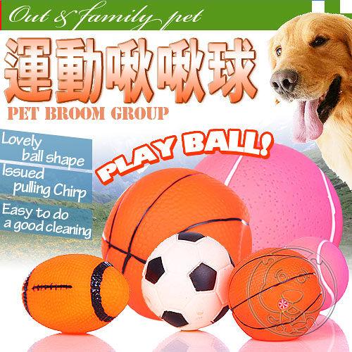 寵物啾啾叫玩具球隨機出貨2顆