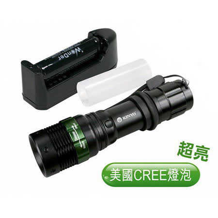 【KINYO】180流明鋁合金LED手電筒(LED-612)