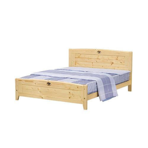 日式量販 日系無印5尺松木實木雙人床架