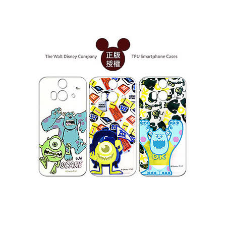 迪士尼授權正版Disney HTC Butterfly 2 B810x 蝴蝶2 透明彩繪軟式保護殼 手機殼(怪獸大學款)