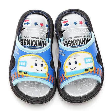 童鞋城堡-新幹線中小童嗶嗶後帶拖鞋814677-藍