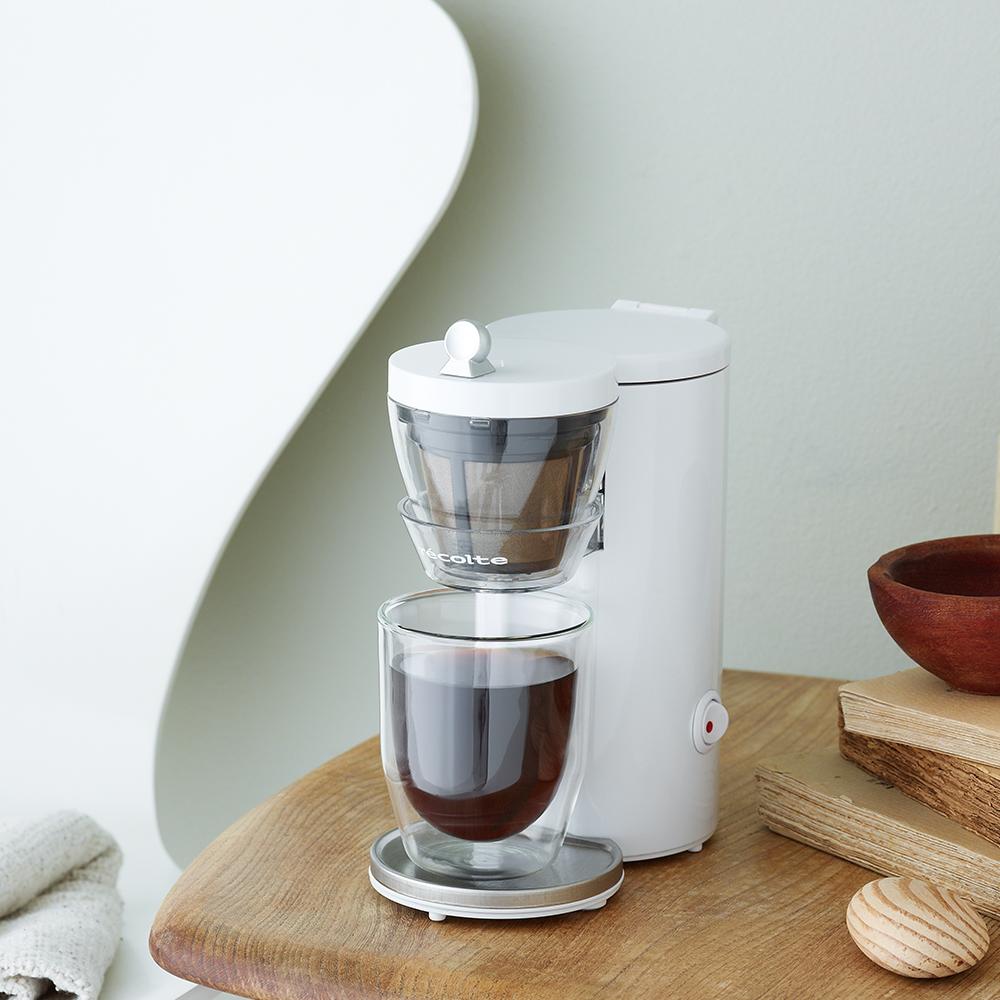 recolte 日本麗克特 Solo Kaffe 單杯咖啡機-典雅白