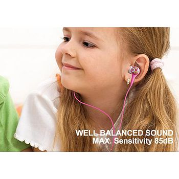 BLAUPUN Kids-111 Girls 內耳式兒童專用耳機 .