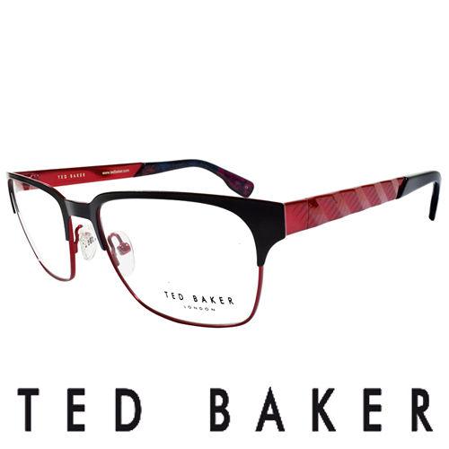TED BAKER 英倫城市金屬 眼鏡 ^(紅^) TB4195~002