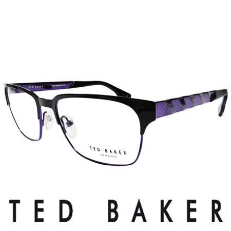 TED BAKER 英倫城市金屬質感造型眼鏡 (紫) TB4195-007